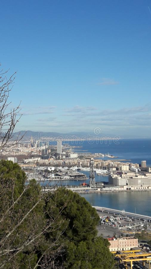 Порт Barcellona стоковое фото rf