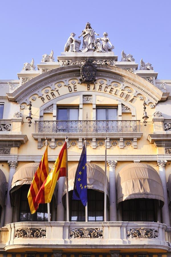порт barcelona стоковая фотография
