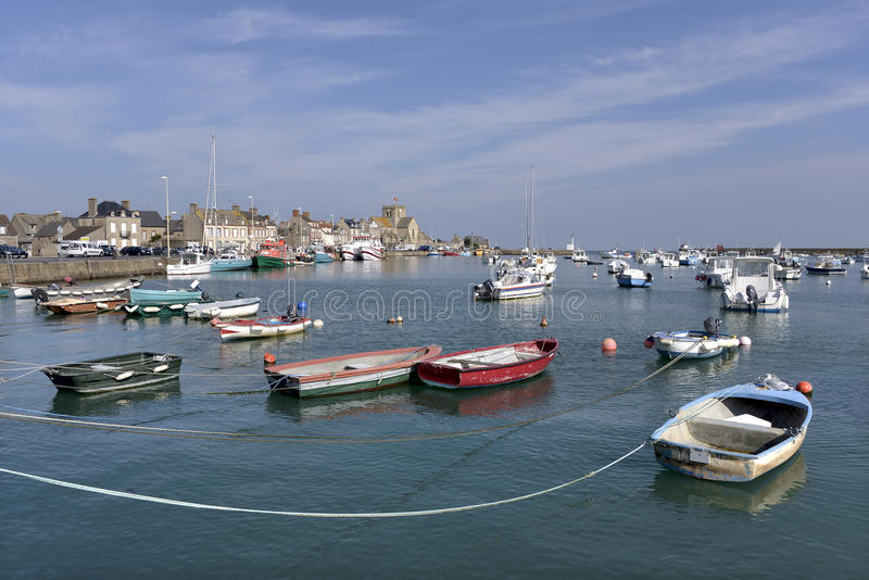 Порт Barfleur в Франции стоковые фото