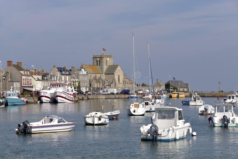 Порт Barfleur в Франции стоковое фото