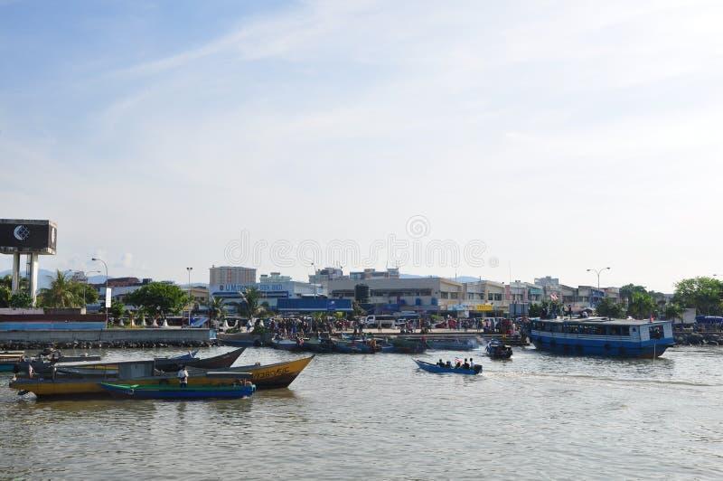 Порт Batu-Batu, Tawau стоковые фотографии rf