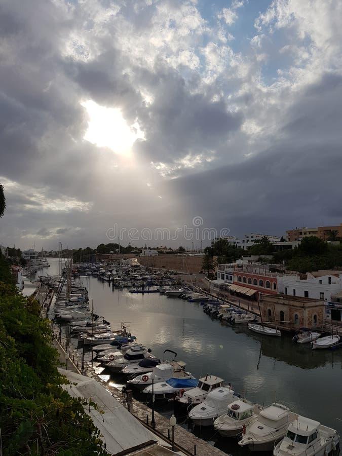 Порт Ciutadella стоковое фото rf