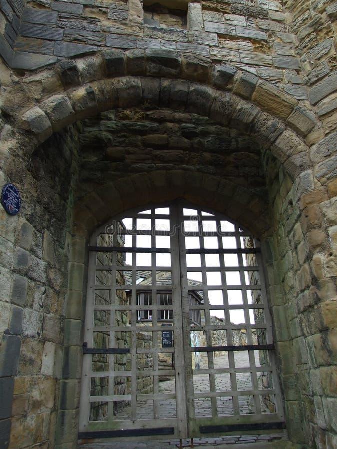 Порт Cullis замка Scarborough, Scarborough северный Йоркшир Англия стоковое фото