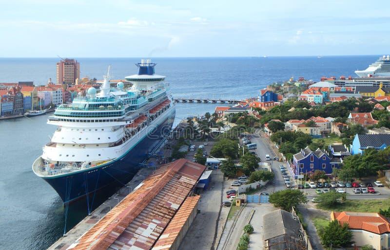 Порт Curacao карибу стоковое изображение rf