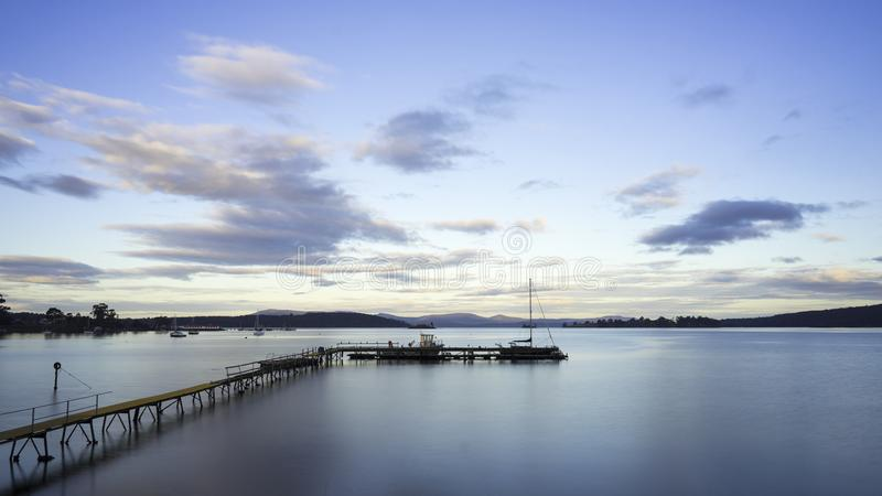Порт Esperance в Дувре в Тасмании стоковые фотографии rf