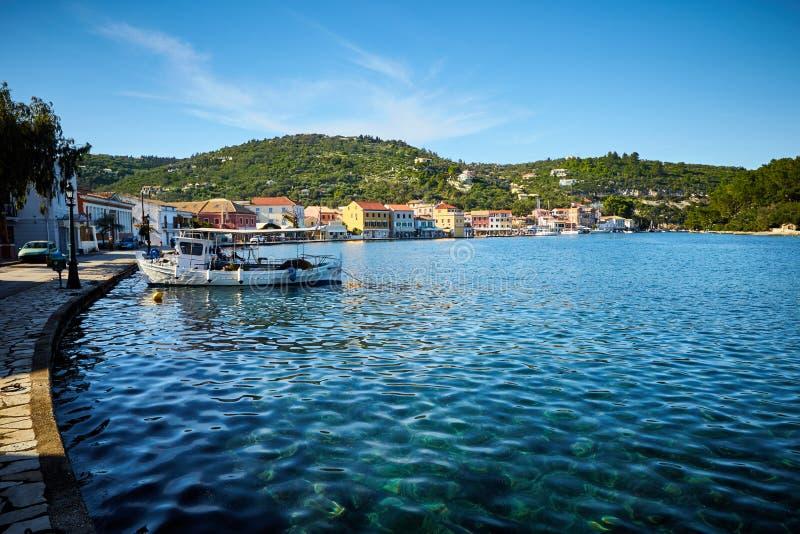 Порт Gaios на острове Paxos в Греции стоковая фотография rf