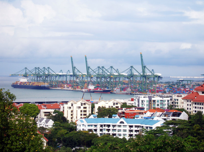 порт harborfront квартир стоковые изображения rf