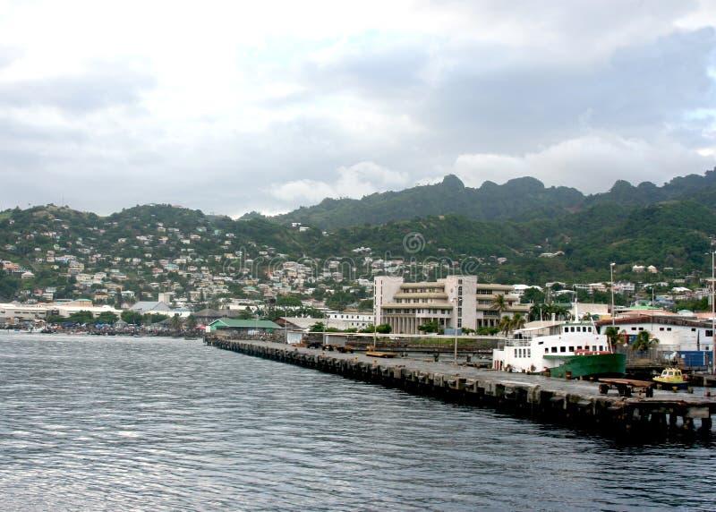 порт kingstown стоковая фотография