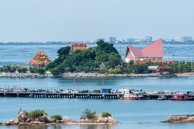 Порт Koh Loy Siracha Таиланда стоковое фото