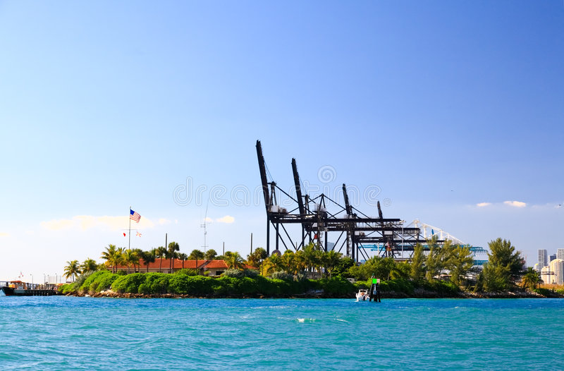 порт miami стоковая фотография