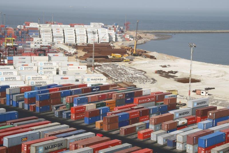 порт montevideo контейнера стоковое фото