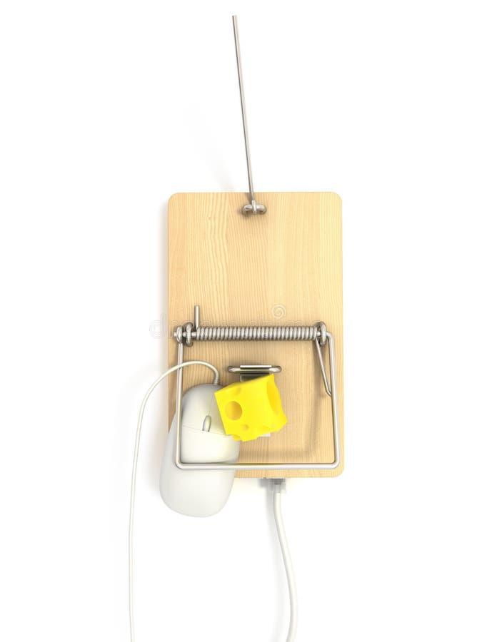 порт mousetrap lan стоковая фотография rf