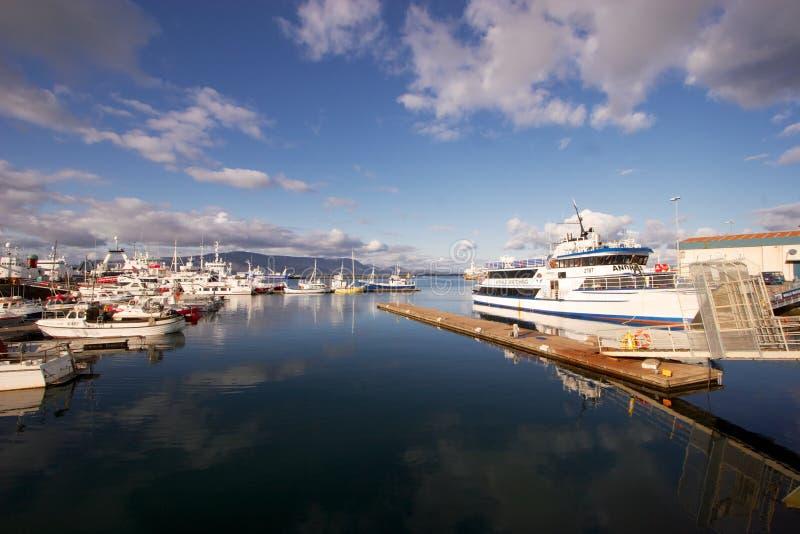 Порт Reykjavik стоковые изображения rf