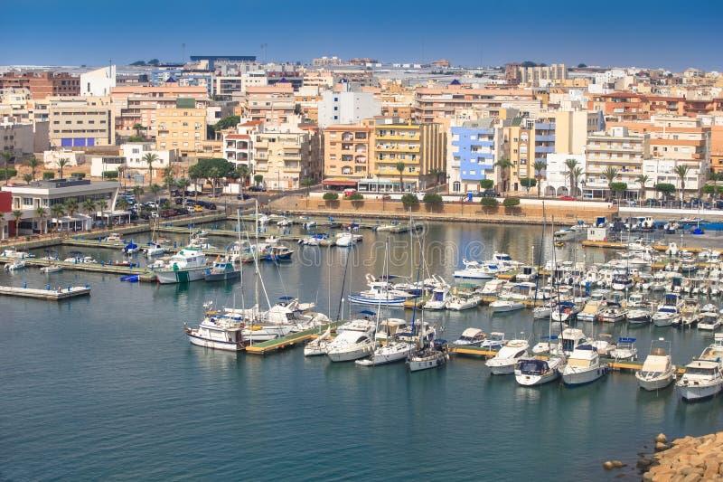 Порт Roquetas de mar nautic, AlmerÃa, Испания стоковые фотографии rf