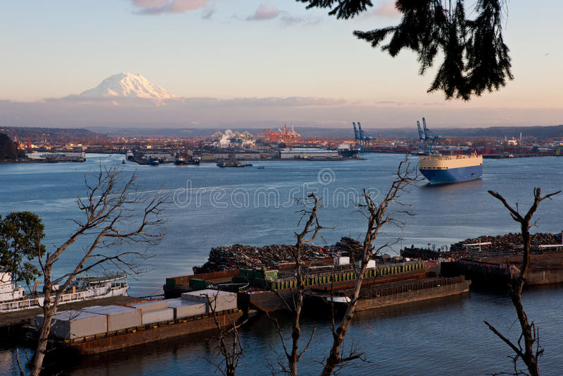 Порт Tacoma стоковое фото rf
