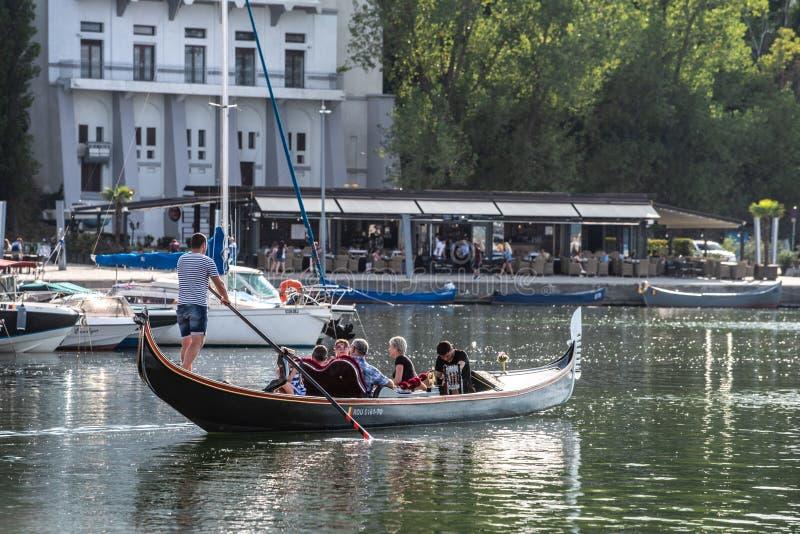 Порт Tomis от Constanta Румынии, плавания гондолы стоковое изображение