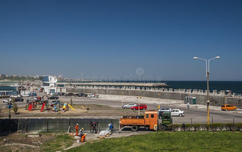 Порт Tomis, Romania's Чёрное море стоковые фотографии rf