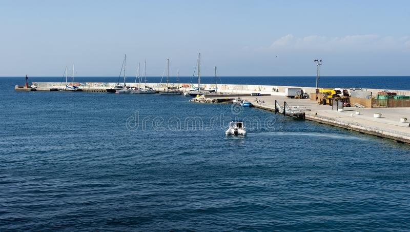 Порт Ventotene стоковые изображения rf