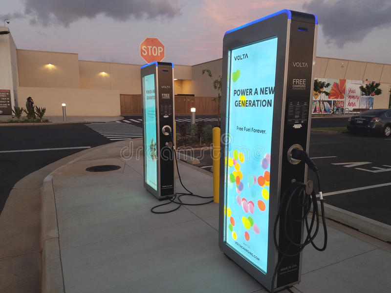 Поручать электрического автомобиля свободен стоковые изображения rf