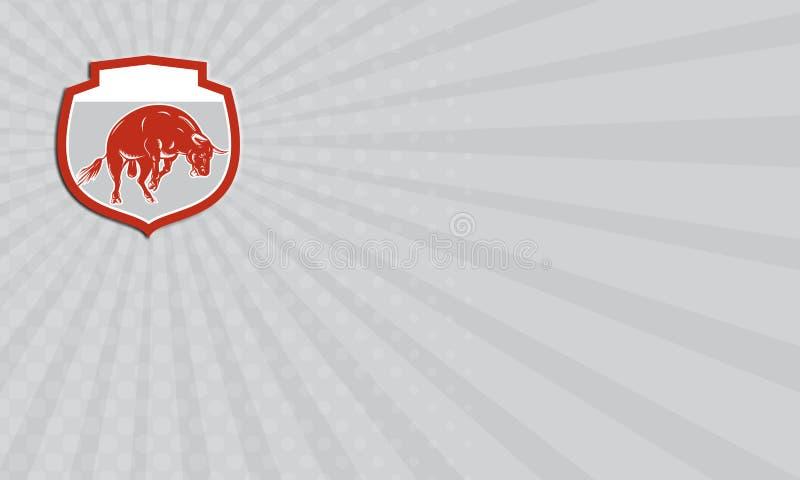Поручать Bull визитной карточки свирепствуя скача атакуя ретро бесплатная иллюстрация