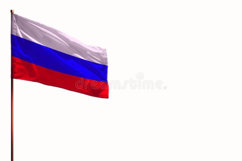 Порхая Россия изолировала флаг на белой предпосылке, модель-макете с космосом для вашего содержания стоковые изображения