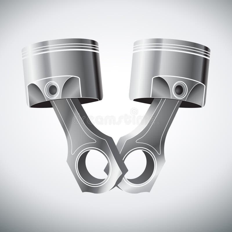 Поршени двигателя иллюстрация вектора