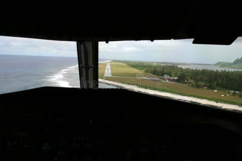 посадка авиакомпании тропическая стоковое фото