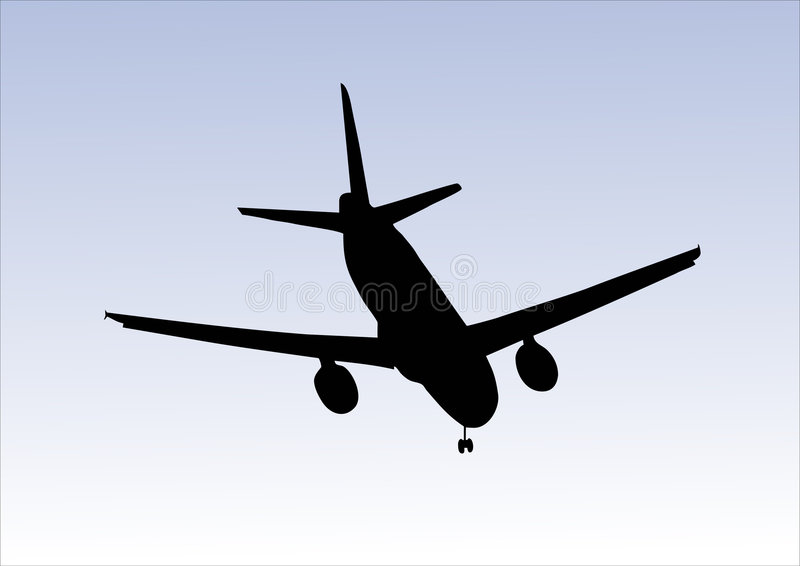 посадка аэроплана иллюстрация штока