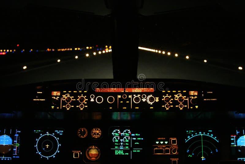 посадка воздушных судн стоковые фотографии rf