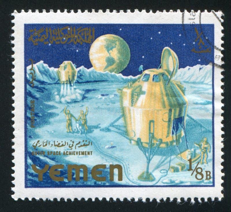 Посадка на луну стоковая фотография rf