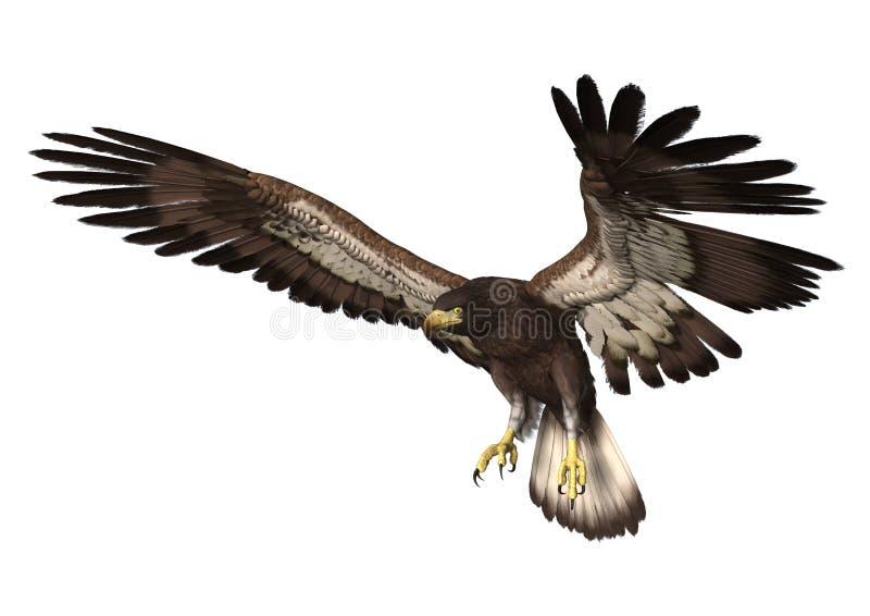 Посадка орла иллюстрация вектора