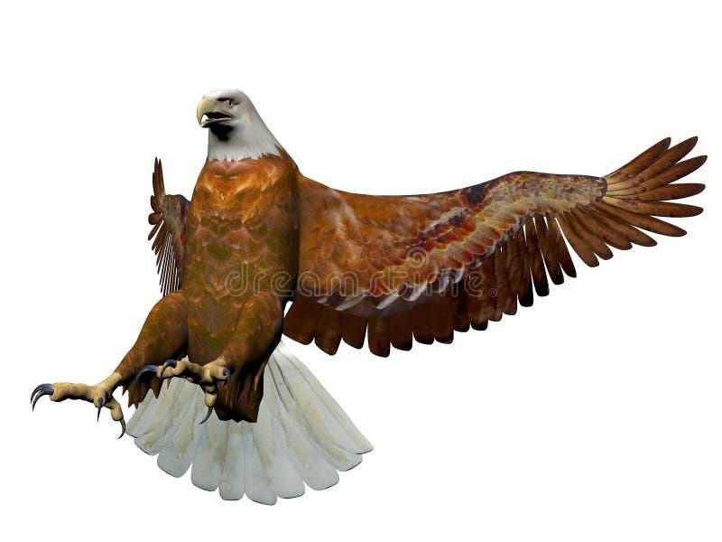 Посадка орла - 3D представляют иллюстрация штока