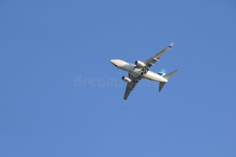 Посадка Westjet канадца стоковое изображение rf