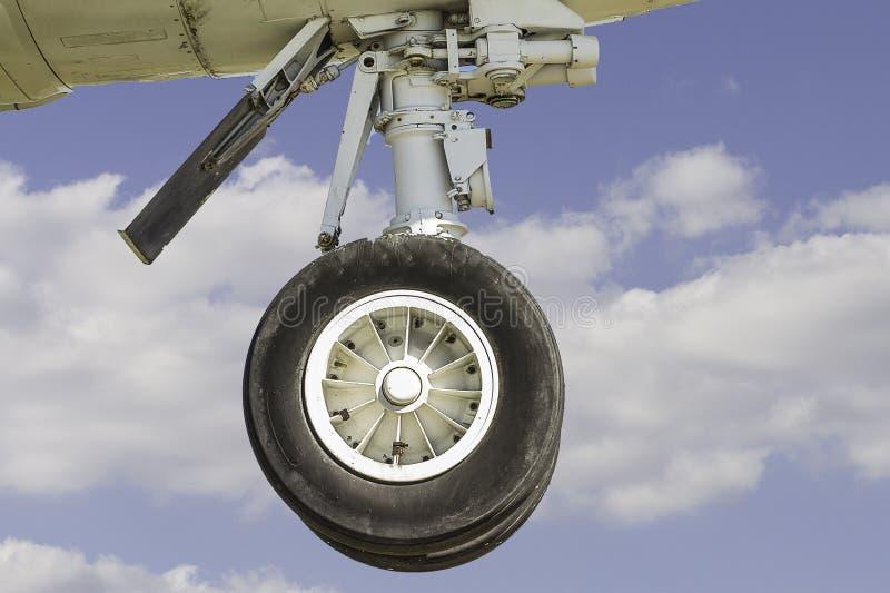 Посадочное устройство самолета Commerical стоковые изображения