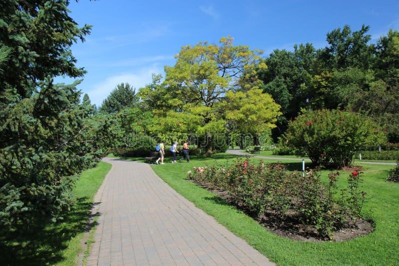 Посетители ботанического сада Монреаля стоковые изображения rf