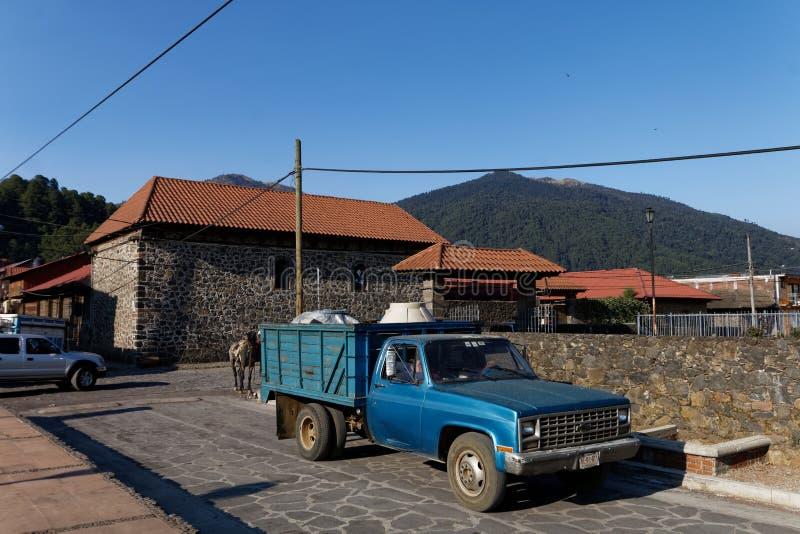 Посещение в Angahuan, Michoacan, Мексике 1 стоковые изображения