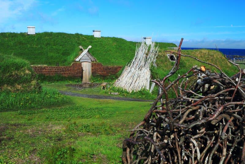 Поселение Викинга стоковые фото