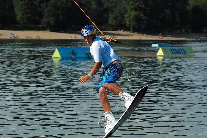 поскачите wakeboarder стоковые изображения
