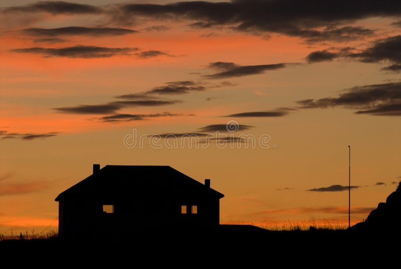последнее дома стоковое изображение rf