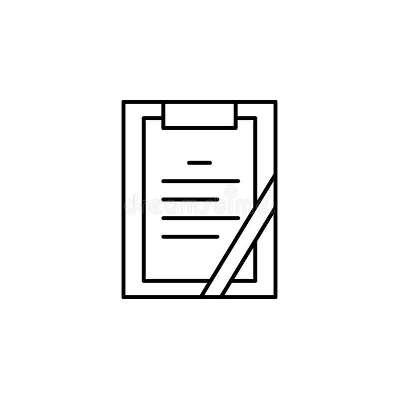 последняя воля, значок плана смерти детальный набор значков иллюстраций смерти r иллюстрация вектора