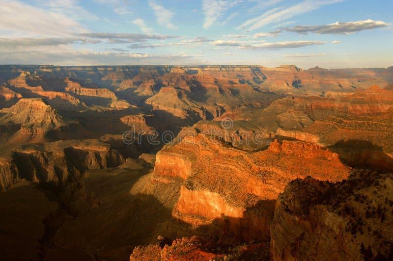 последняя каньона после полудня грандиозная стоковое изображение