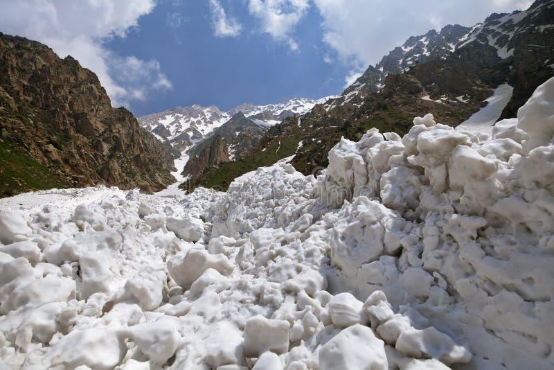 После лавины стоковое фото rf