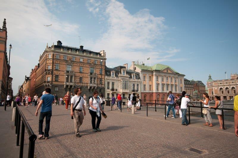 После полудня лета в Стокгольме, Швеци стоковые изображения rf