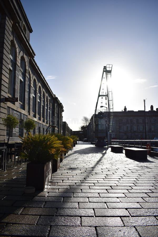 После полудня старого порта Плимута стоковое фото rf