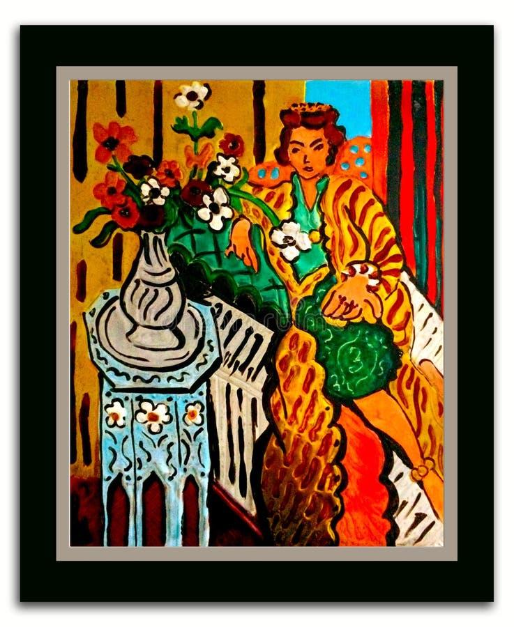 После чернил Henri Matisse на певтере стоковое изображение