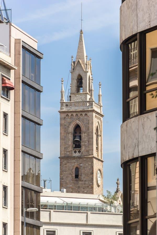 Посмотрите на колокольне ³ Parroquia de Ла Purissima Concepcià стоковая фотография rf