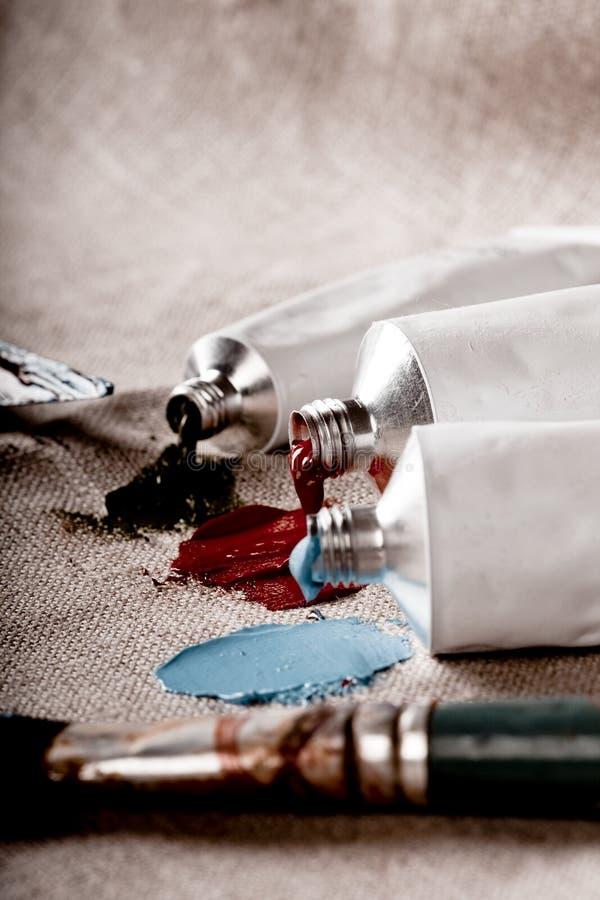 посмотрите сбор винограда пробок краски стоковая фотография rf
