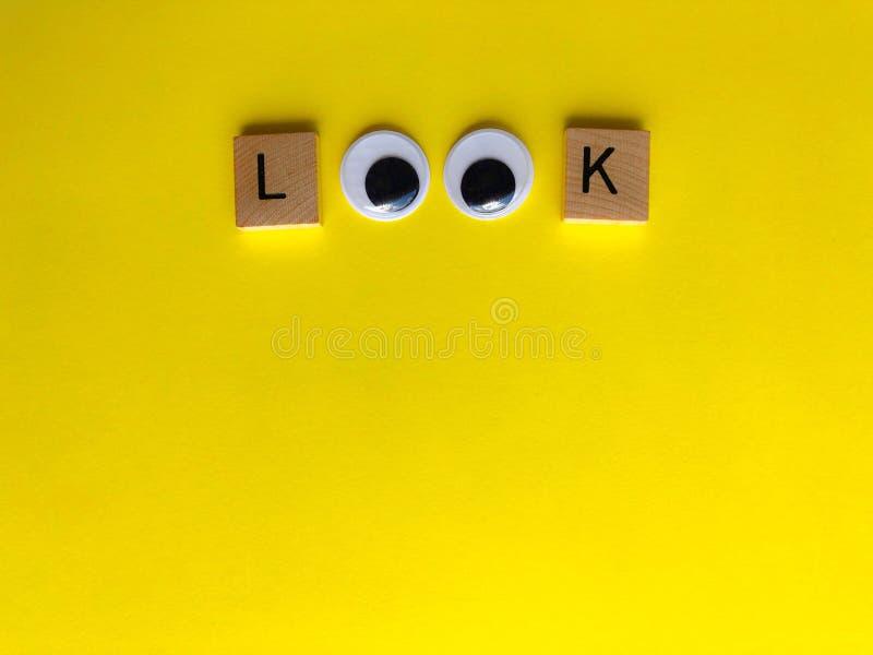 Посмотрите с googly глазами, творческой концепцией потехи стоковое изображение