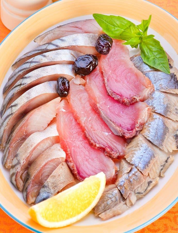 посоленное смешивание рыб стоковое изображение rf