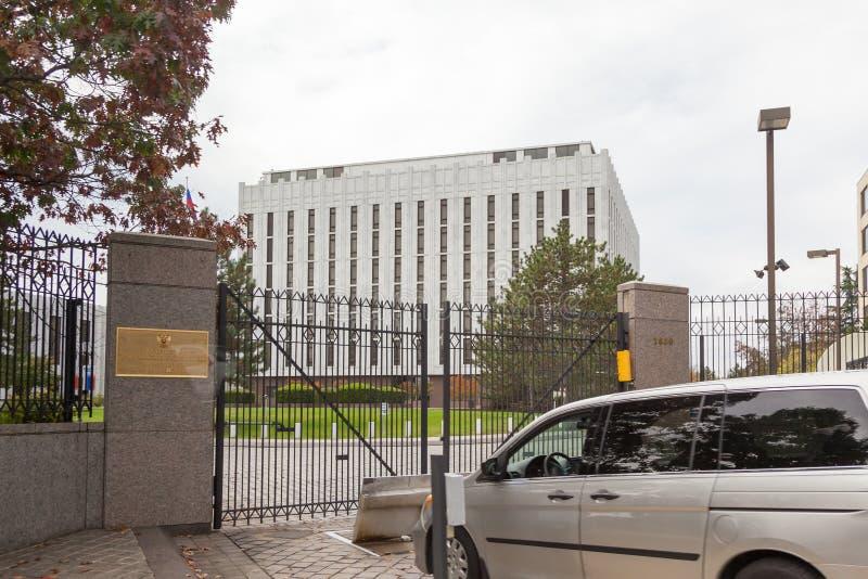 Посольство Российской Федерации в DC Wasington в США Здание посольства стоковые изображения